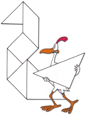 Rooster Tangram